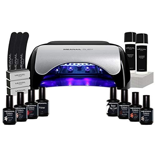 Lampara Led Secador de Uñas UV Kit Gel de Uñas Set Manicura Uñas de Porcelana Kit Edition Ruby